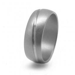 Матовое обручальное кольцо