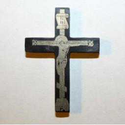 Крест из титана с чернением Т45-1