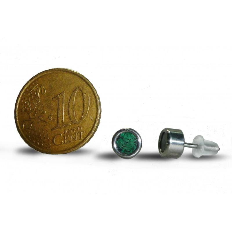 Серьги титановые с эйлатским камнем