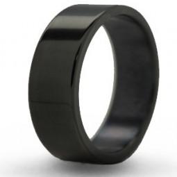 Черное кольцо из титана Т8042