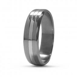 Обручальное кольцо Т7030 с белым золотом