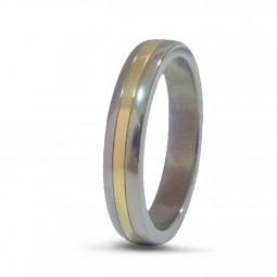 Обручальное кольцо Т2010 с желтым золотом