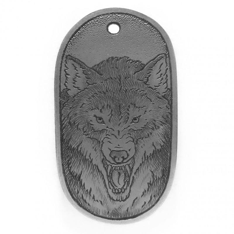 """Жетон с ручной гравировкой """"Волк"""""""