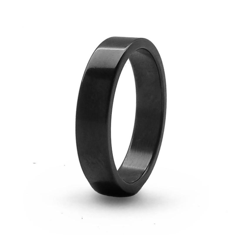Кольцо из черного титана Т8150