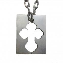 Крест-кулон титановый Т56