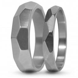 Парные обручальные кольца из титана Т3005тс
