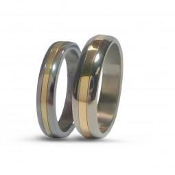 Парные обручальные кольца из титана Т2020тс