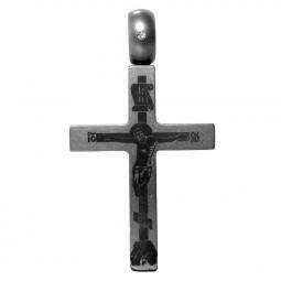 Крест из титана с бриллиантом Т54-2