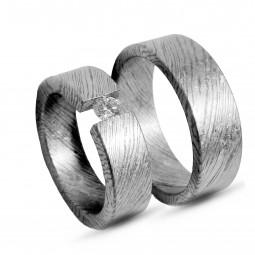 Парные обручальные кольца из тимаскуса Т1040ТМтс