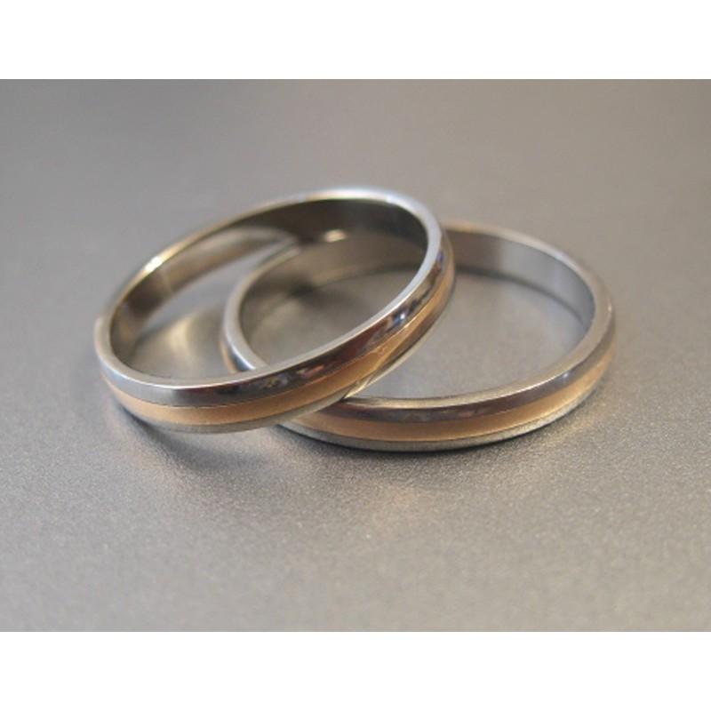 Обручальное кольцо Т2010 с красным золотом