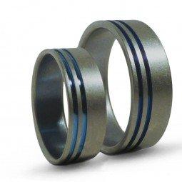 Парные обручальные кольца из титана Т1045тс