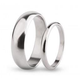 Парные обручальные кольца из титана Т1010-2тс