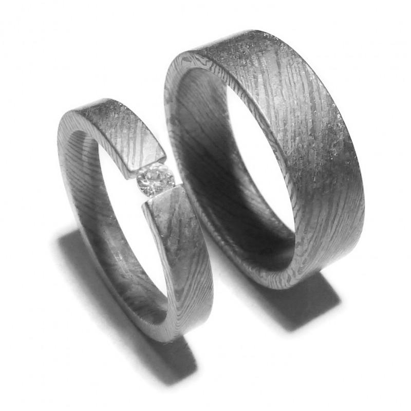 Парные обручальные кольца из тимаскуса Т4040ТМтс
