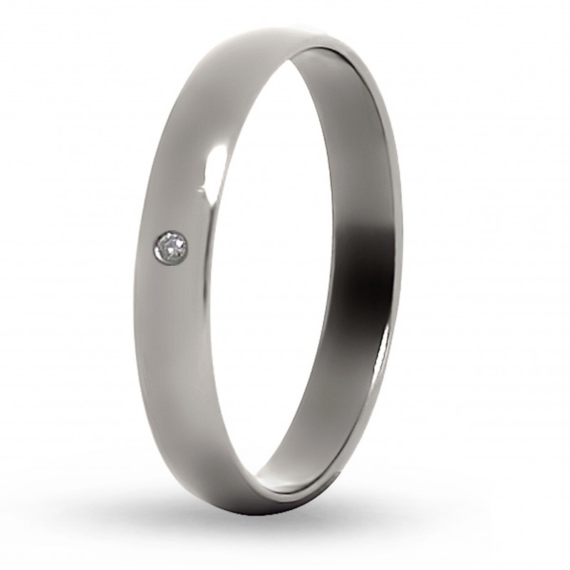Кольцо из титана с бриллиантом Т4014